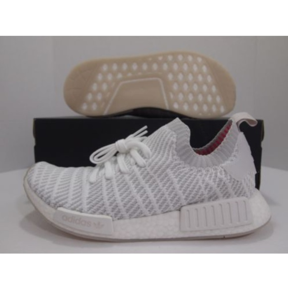 check out fc763 c7a2d Adidas NMD R1 Primeknit STLT Size 10 Cloud White